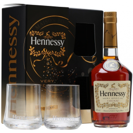 Hennessy VS 0,75L 2 pahare